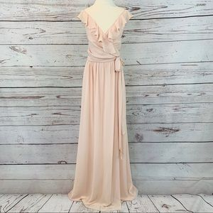Ceremony by Joanna August wrap blush pink dress